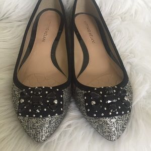 Antonio Melani Jeweled Flats